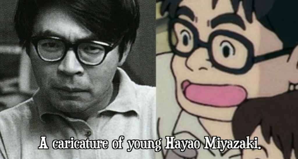 Is that a caricature of a young Hayao Miyazaki?