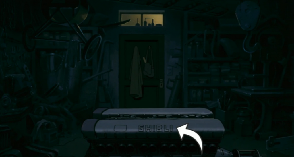 GHIBLI as an engine brand in Porco Rosso