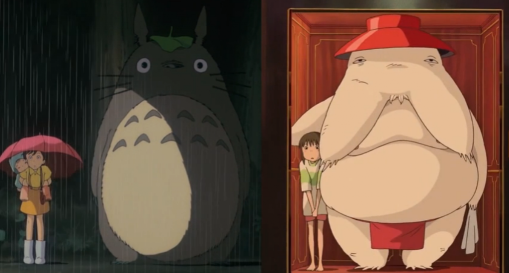 A similar scene from Totoro and Spirited Away