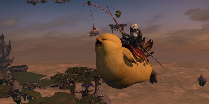 Final Fantasy XIV Flying Fat Chocobo