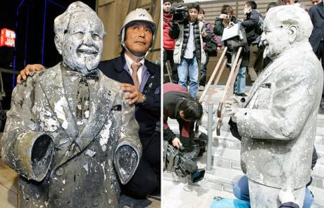 Japanese urban legends: Recovery of the statue.