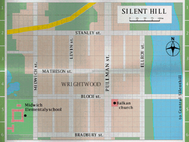 Old Silent Hill Map