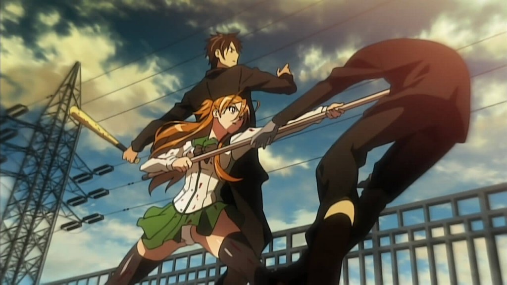 Highschool of the Dead is more than fan service - Taking care of each other is a strong concept in Highschool of the Dead