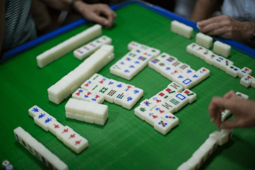 Mahjong Game In Progress