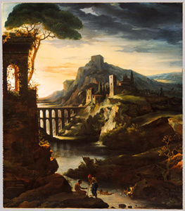 Théodore Gericault's Evening Landscape with an Aqueduct