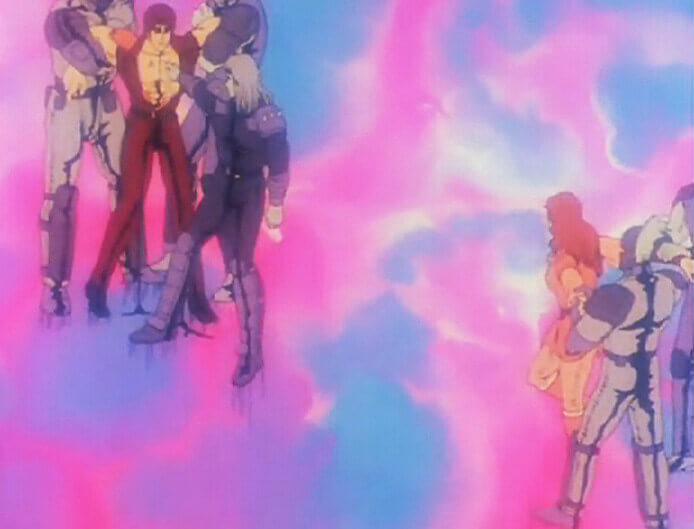Kenshiro and Yuria forcefully separated by Shin