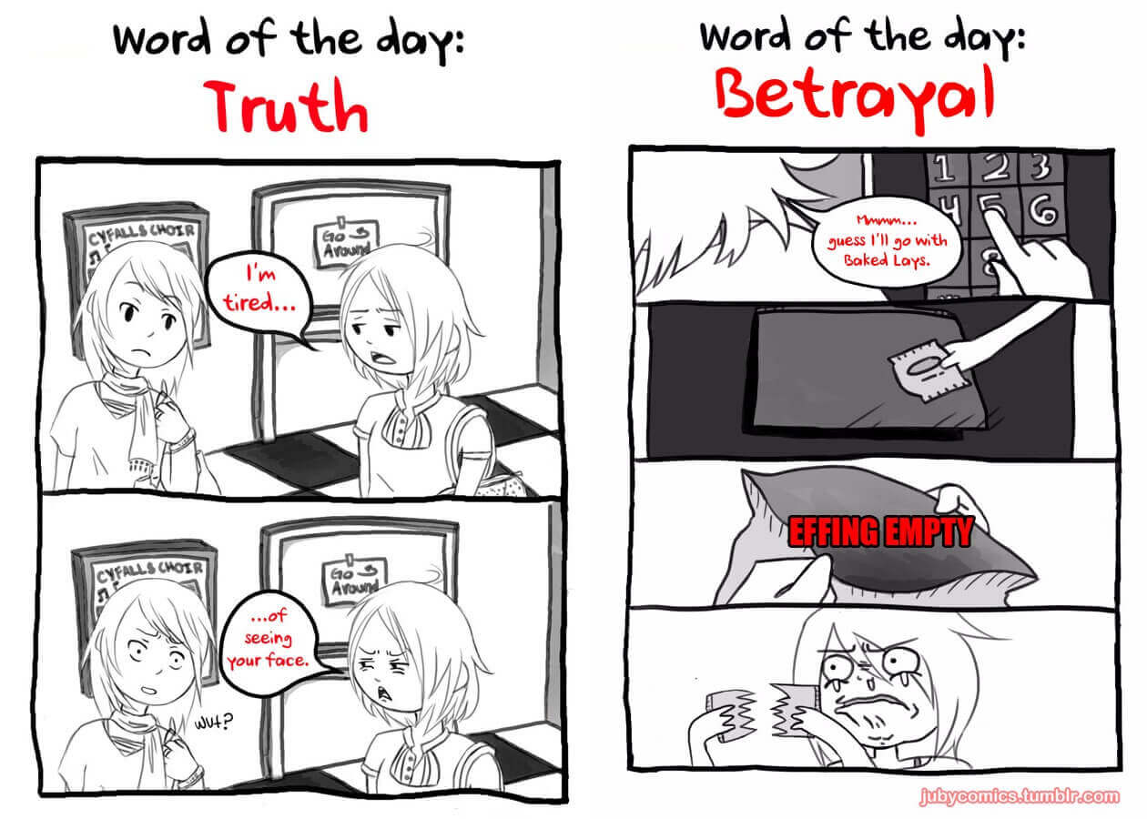 JubyPhonic Interview Two comics from Juby's Word of the Day.