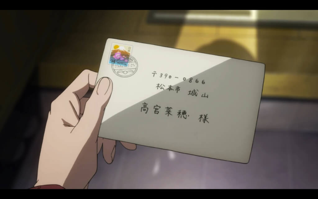 Orange Series Review [ Spoiler Free ] Naho holding the letter from her future self.
