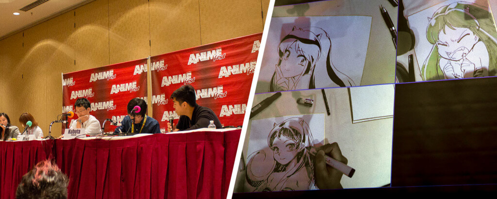 AnimeFest 2016: Live-Drawing with Japanese Animators (Miwa, Kubuta, Nishino)