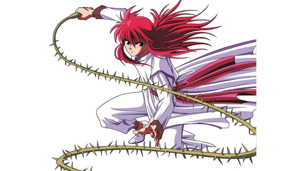 Kurama and his rose whip