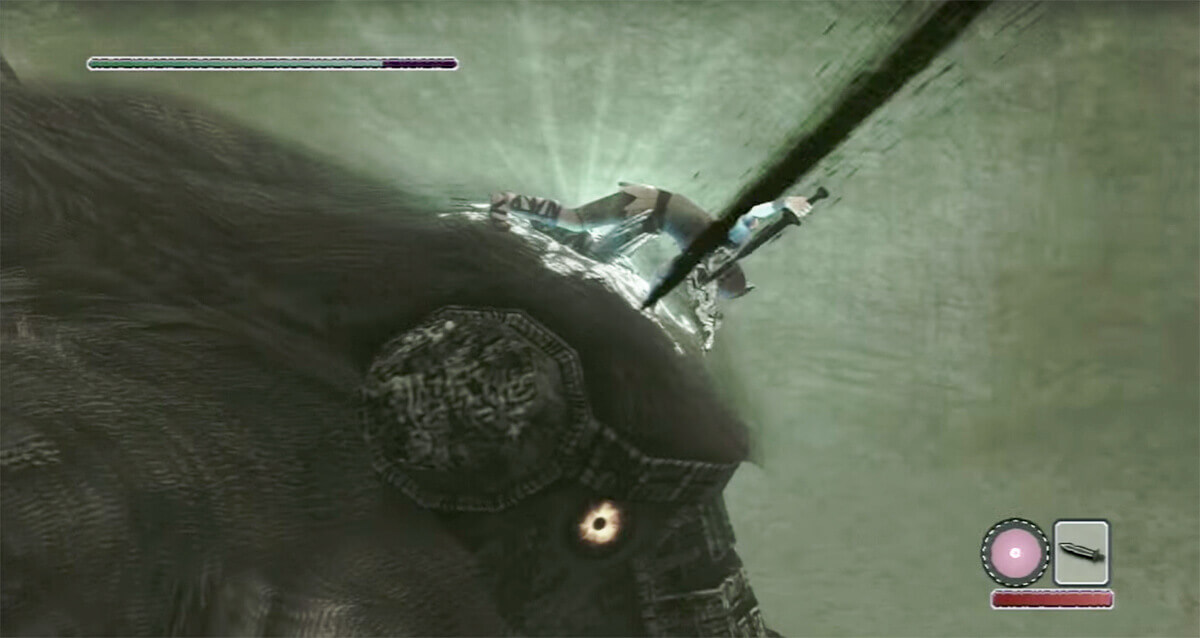 Stabbing the first colossus