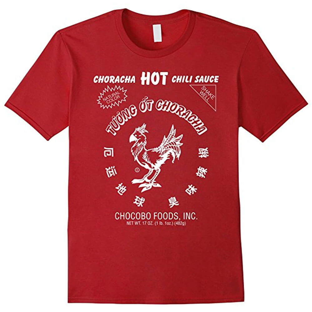 Final Fantasy Gift Guide - Choracha Hot Sauce Shirt