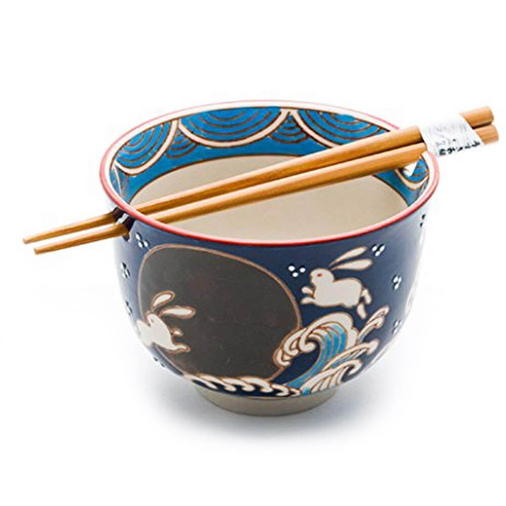 Japanese Bowl with Chopsticks Gift Set