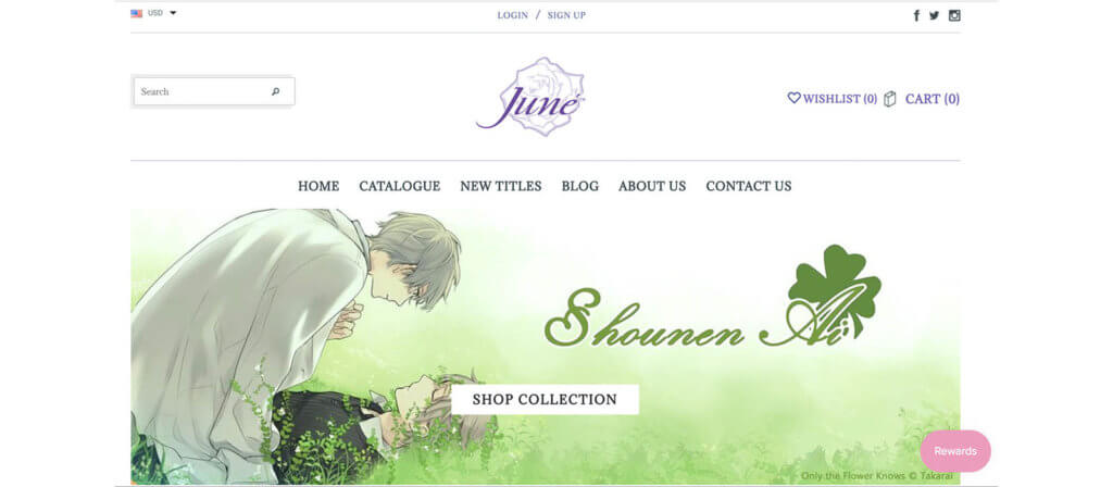 Juné Manga Website