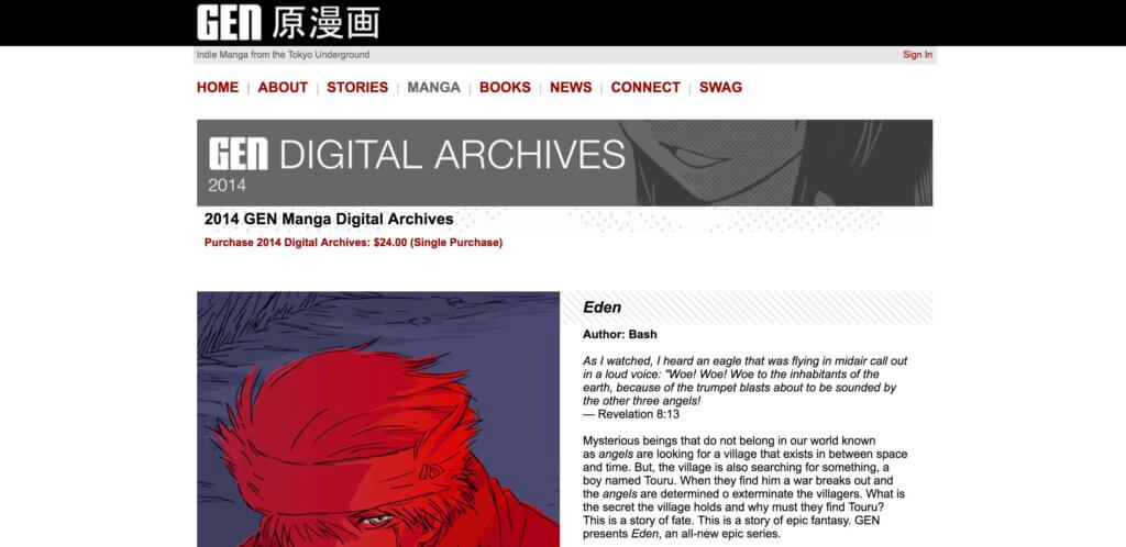 The Ultimate List of Legal Online Manga Sites - Gen Manga
