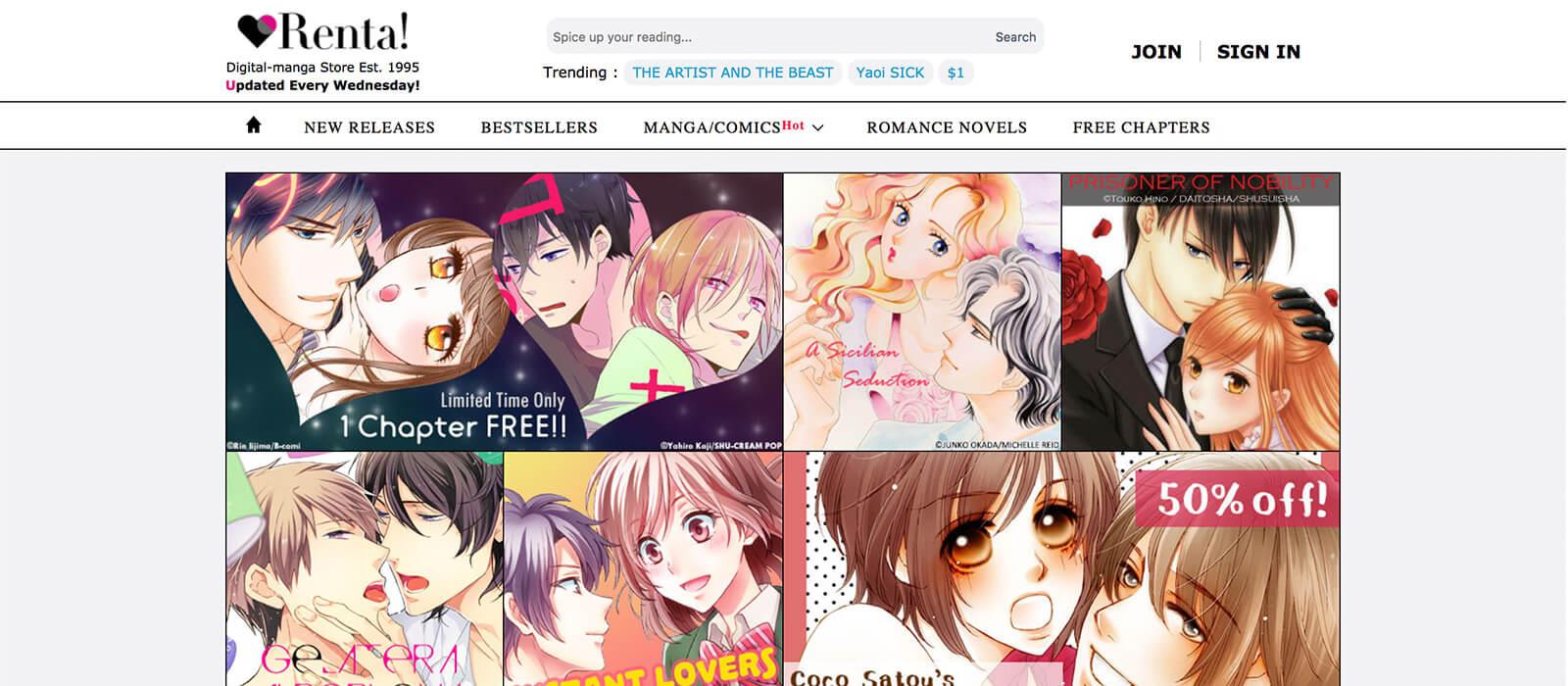 The Ultimate List of Legal Online Manga Sites - Renta!