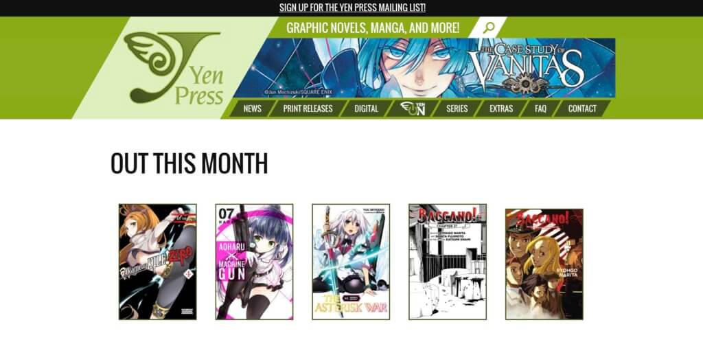 The Ultimate List of Legal Online Manga Sites - Yen Press