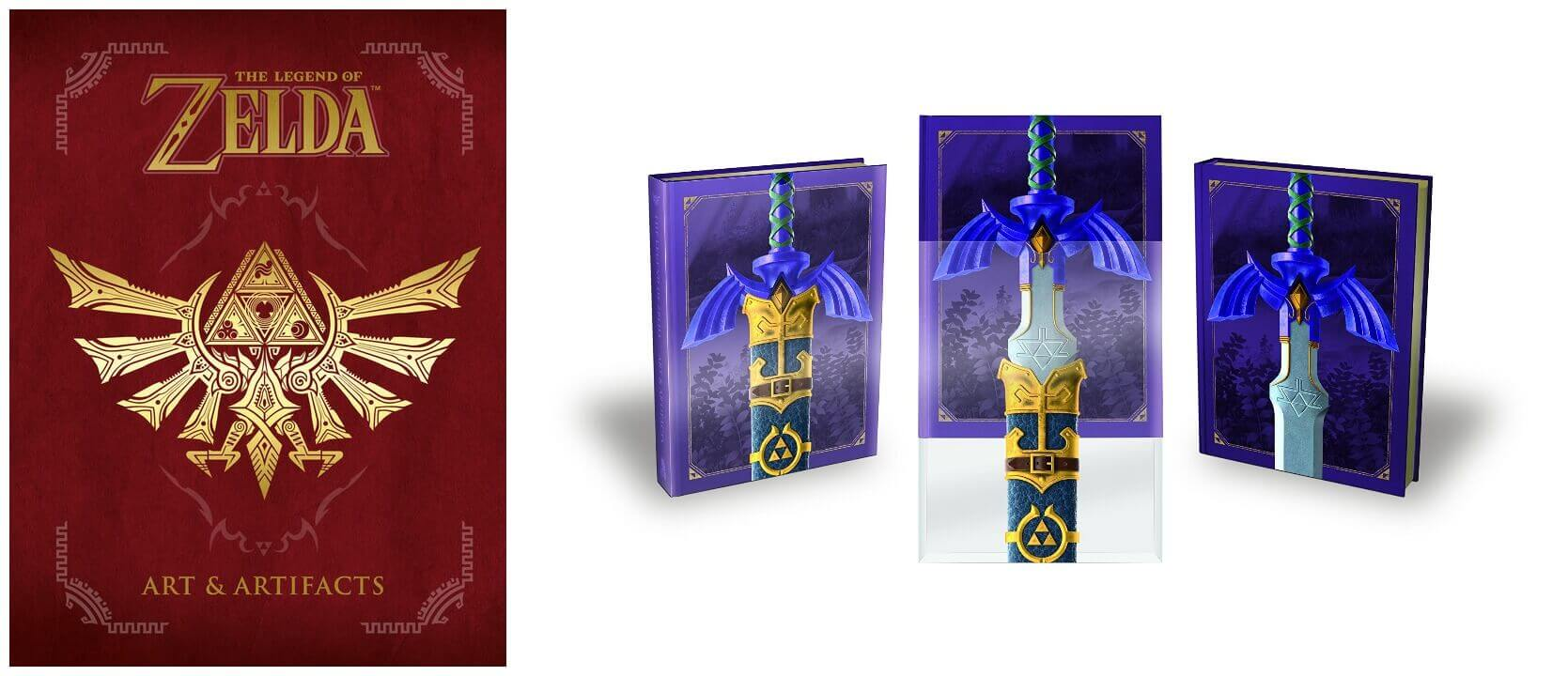 February 2017 Manga Releases Covers of The Legend of Zelda Art & Artifacts and Art & Artifacts Limited Edition.