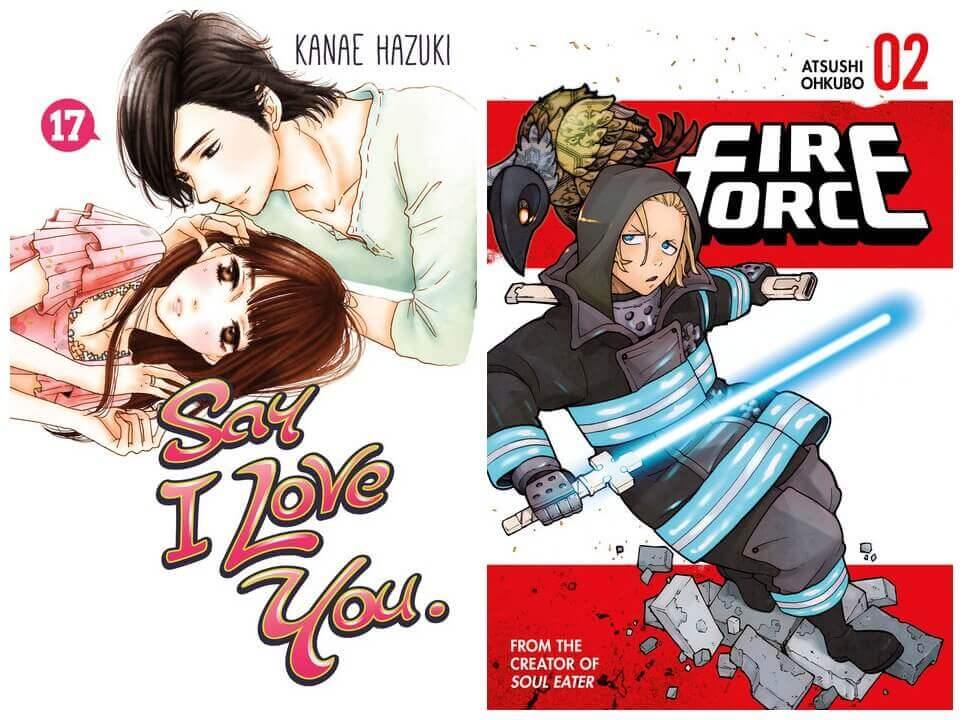 February 2017 Manga Releases Covers for Say I Love You and Fire Force.