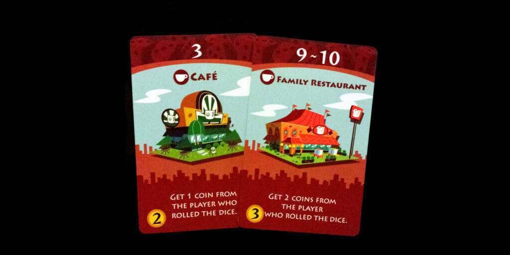 Machi Koro Game Pieces - Restaurant Cards