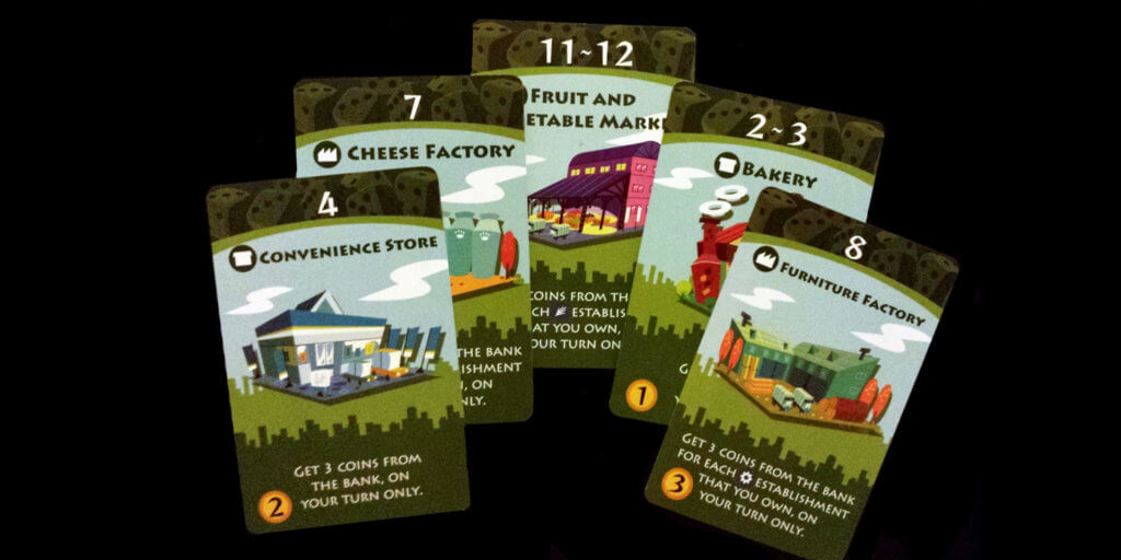 Machi Koro Game Pieces - Secondary Industries Cards