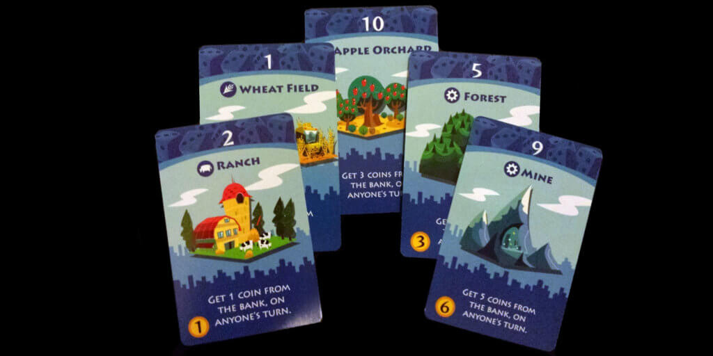 Machi Koro Game Pieces - Primary Industries Cards