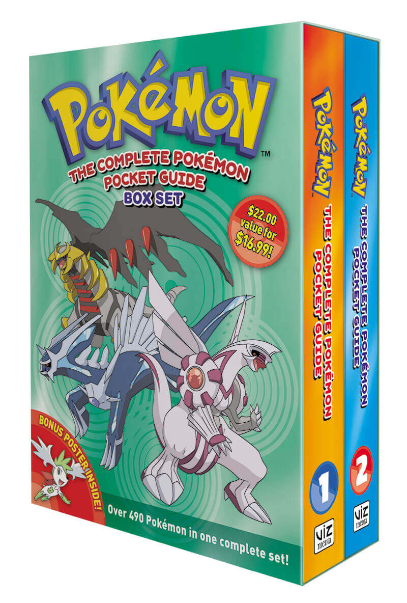 February 2017 Manga Releases Cover of The Complete Pokemon Pocket Guide Box Set.