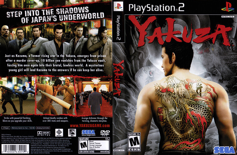 Yakuza game cover