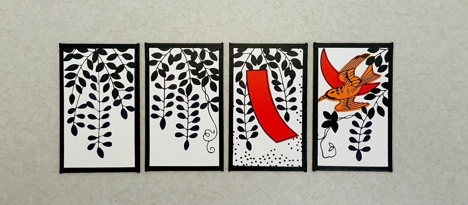 Hanafuda April cards