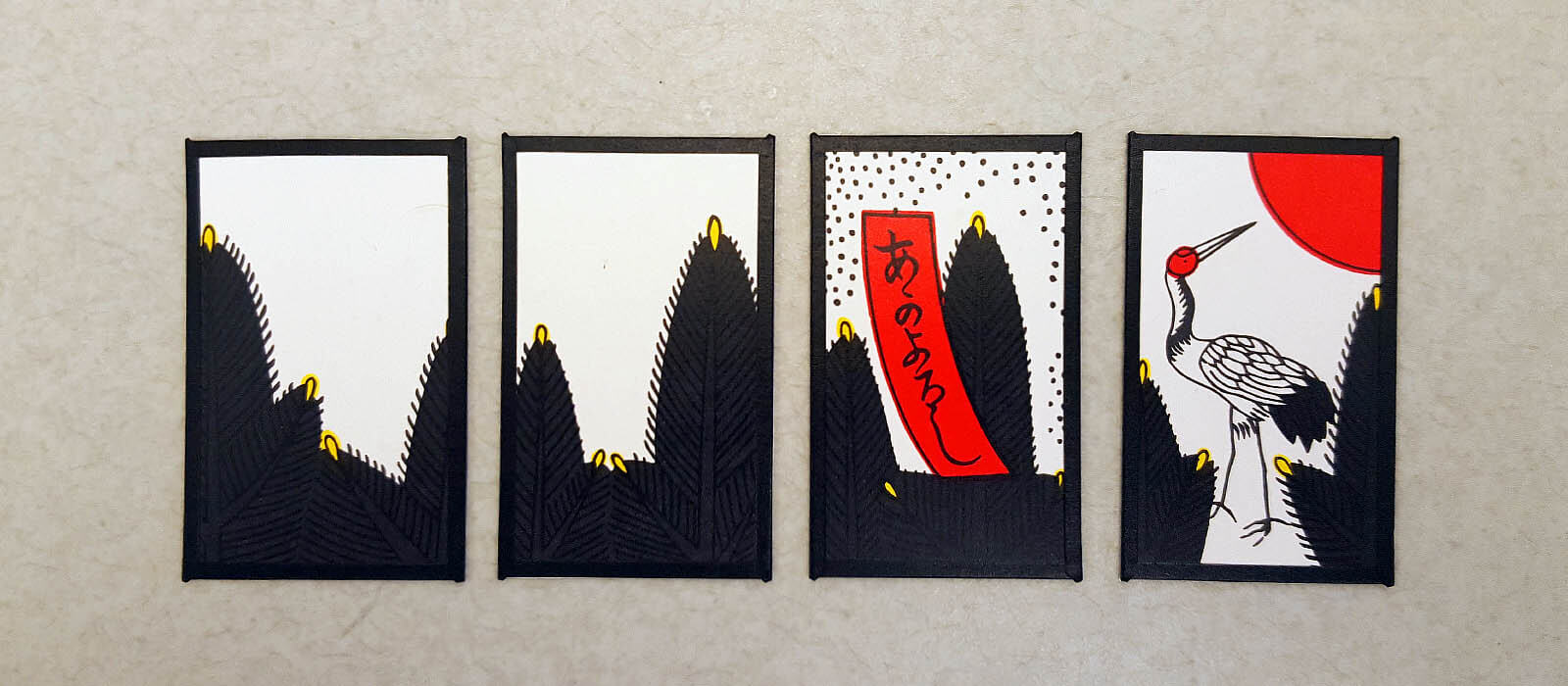 Hanafuda January cards