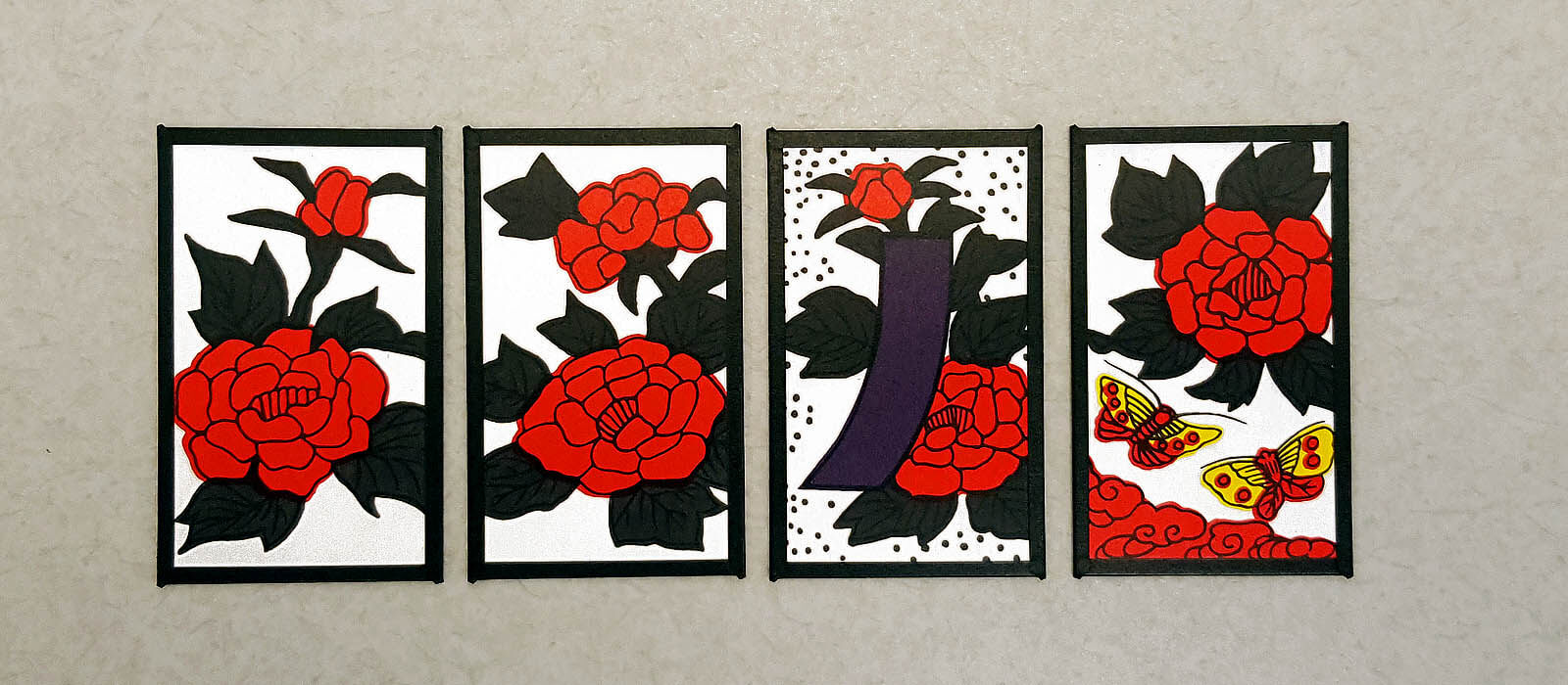 Hanafuda June cards