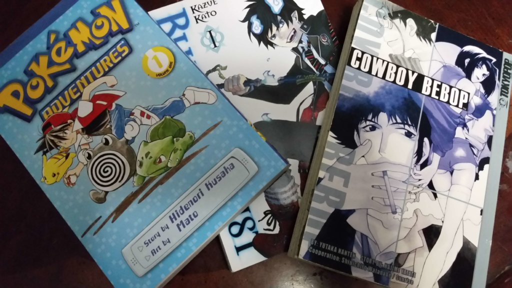 Pokemon Adventures, Blue Exorcist, & Cowboy Bebop manga