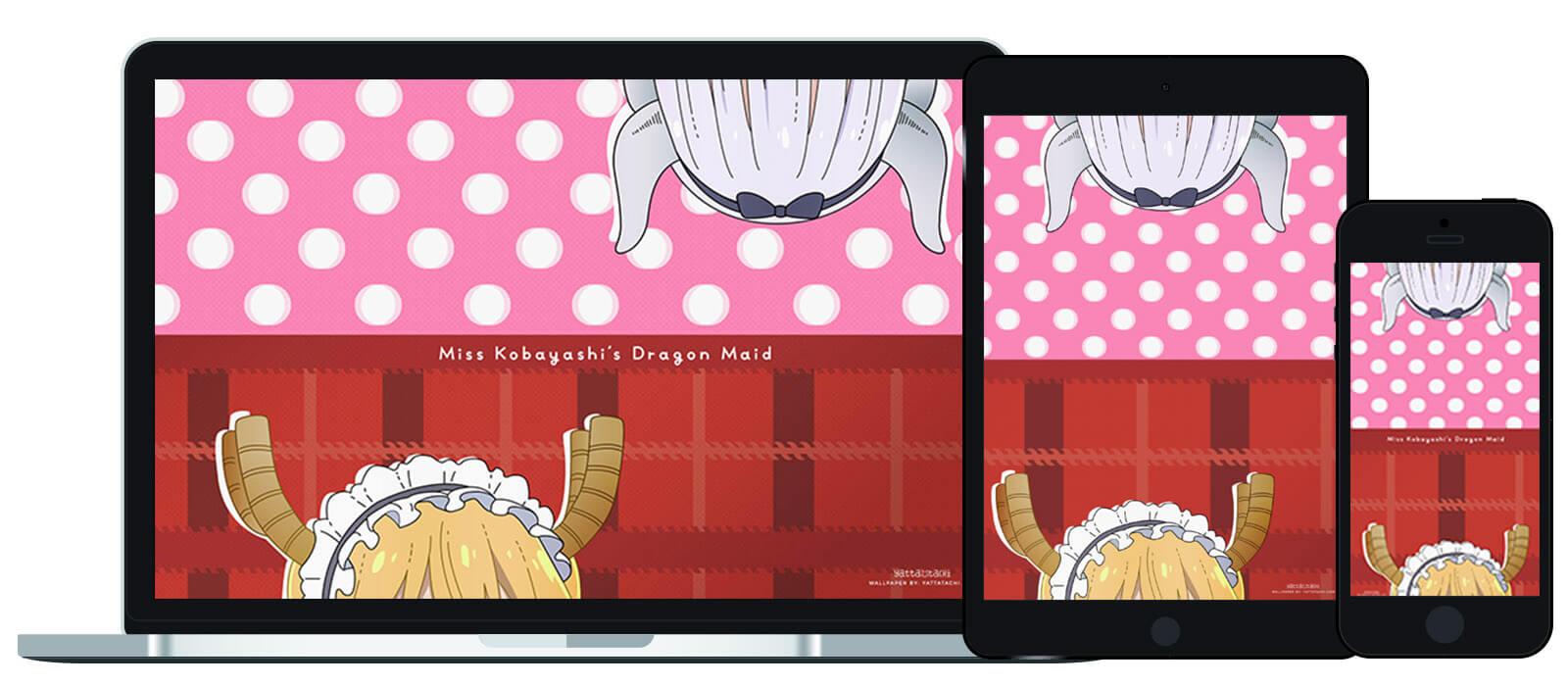 Wallpaper of the Month: Miss Kobayashi's Dragon Maid (Tohru & Kanna)