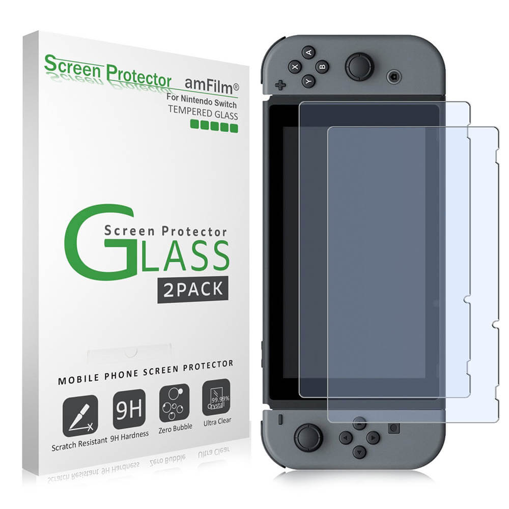 Nintendo Switch Accessory - amFilm Tempered Glass Screen Protector