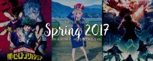 Spring 2017 Anime Hashtags