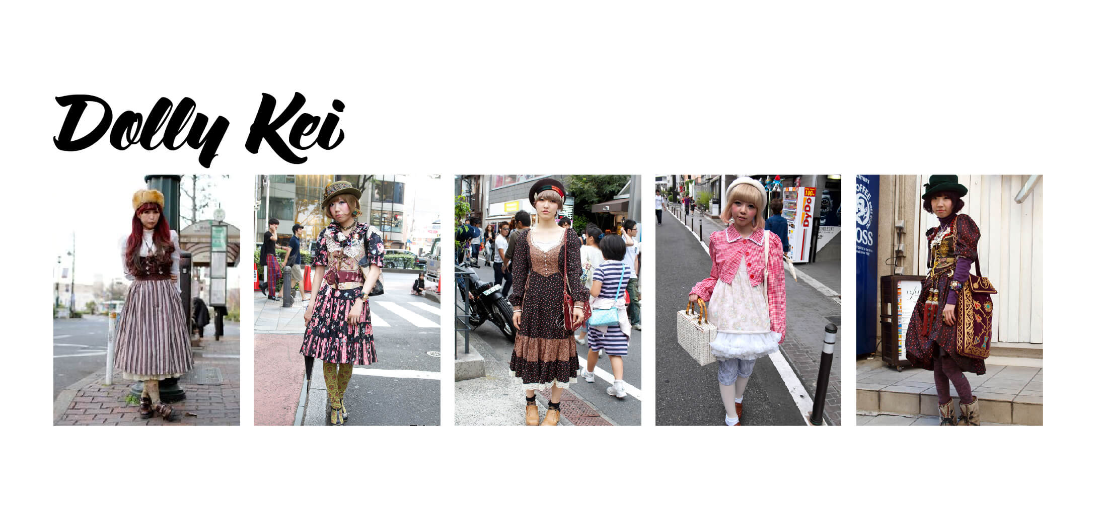 Examples of Dolly Kei Fashion (Japanese Fashion)