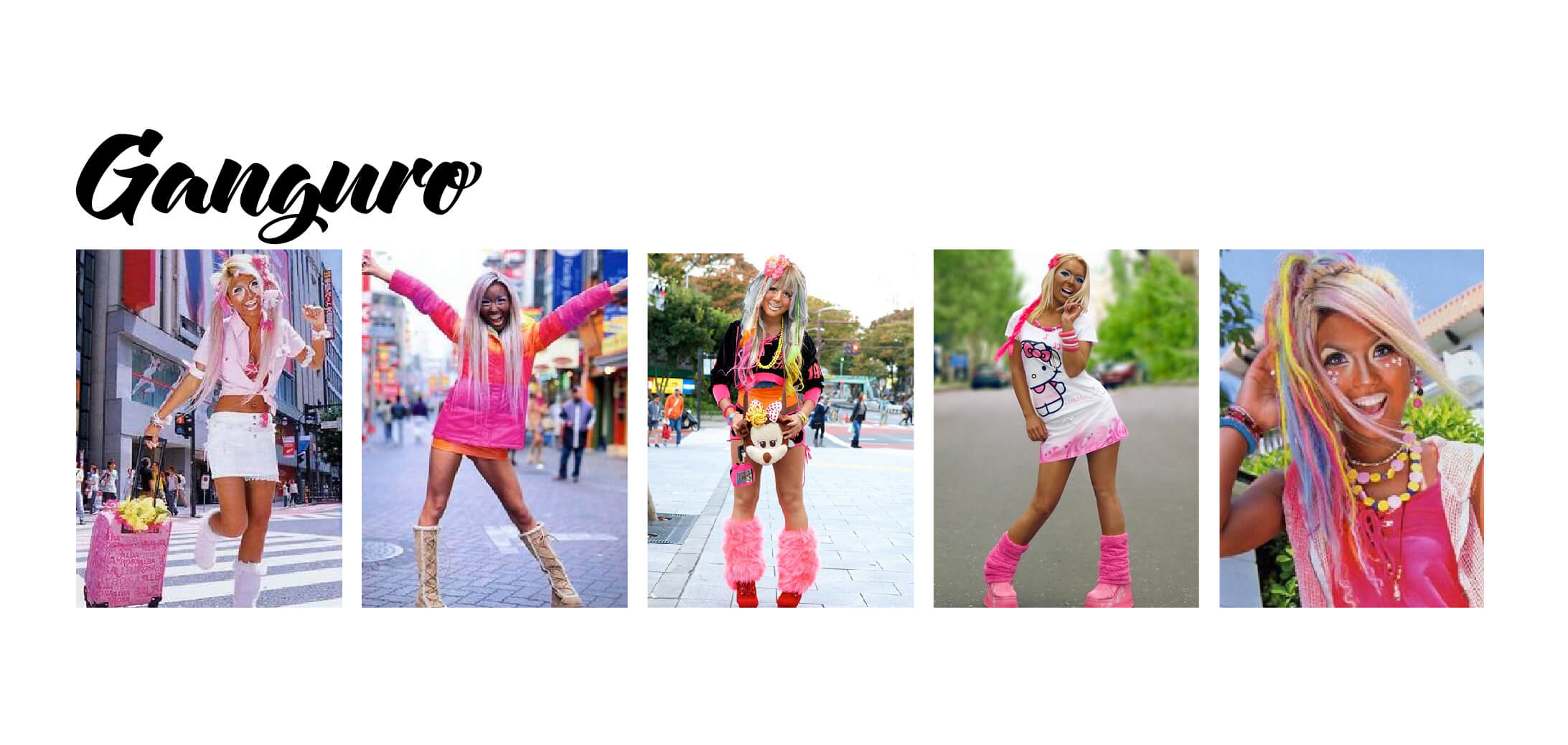 Examples of Ganguro fashion