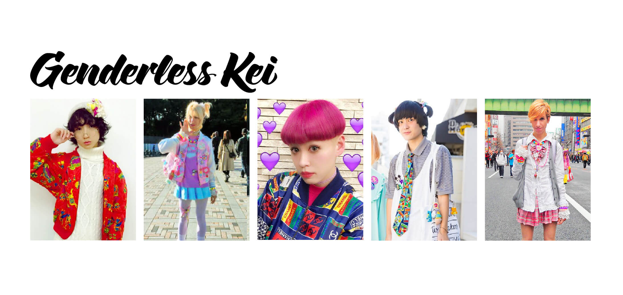 Examples of Genderless Kei Fashion