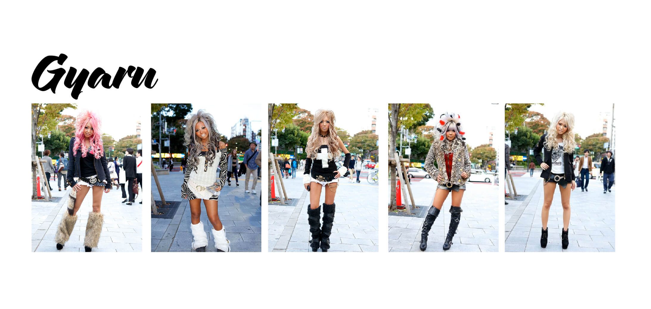 Examples of Gyaru Fashion