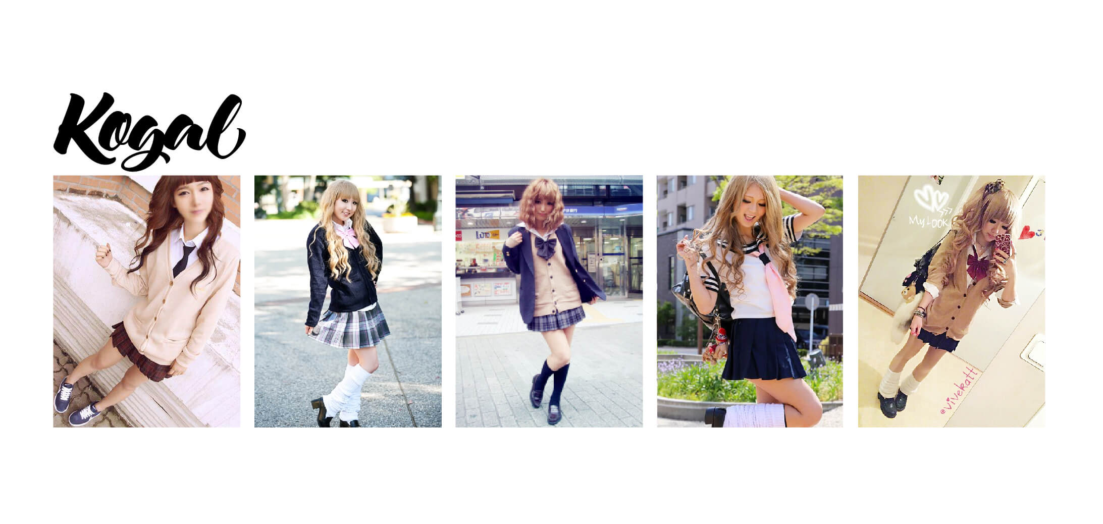Examples of Kogal Kei Fashion