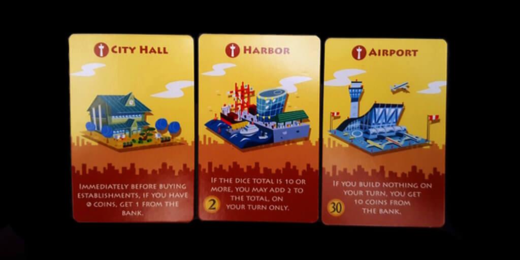Machi Koro Cards Landmarks