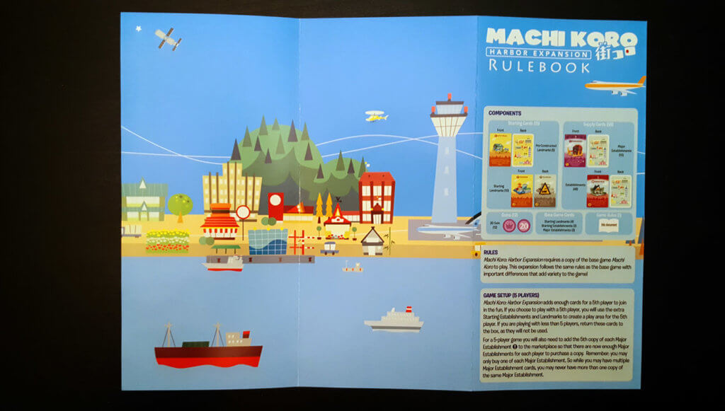 Machi Koro Harbor Expansion Rulebook