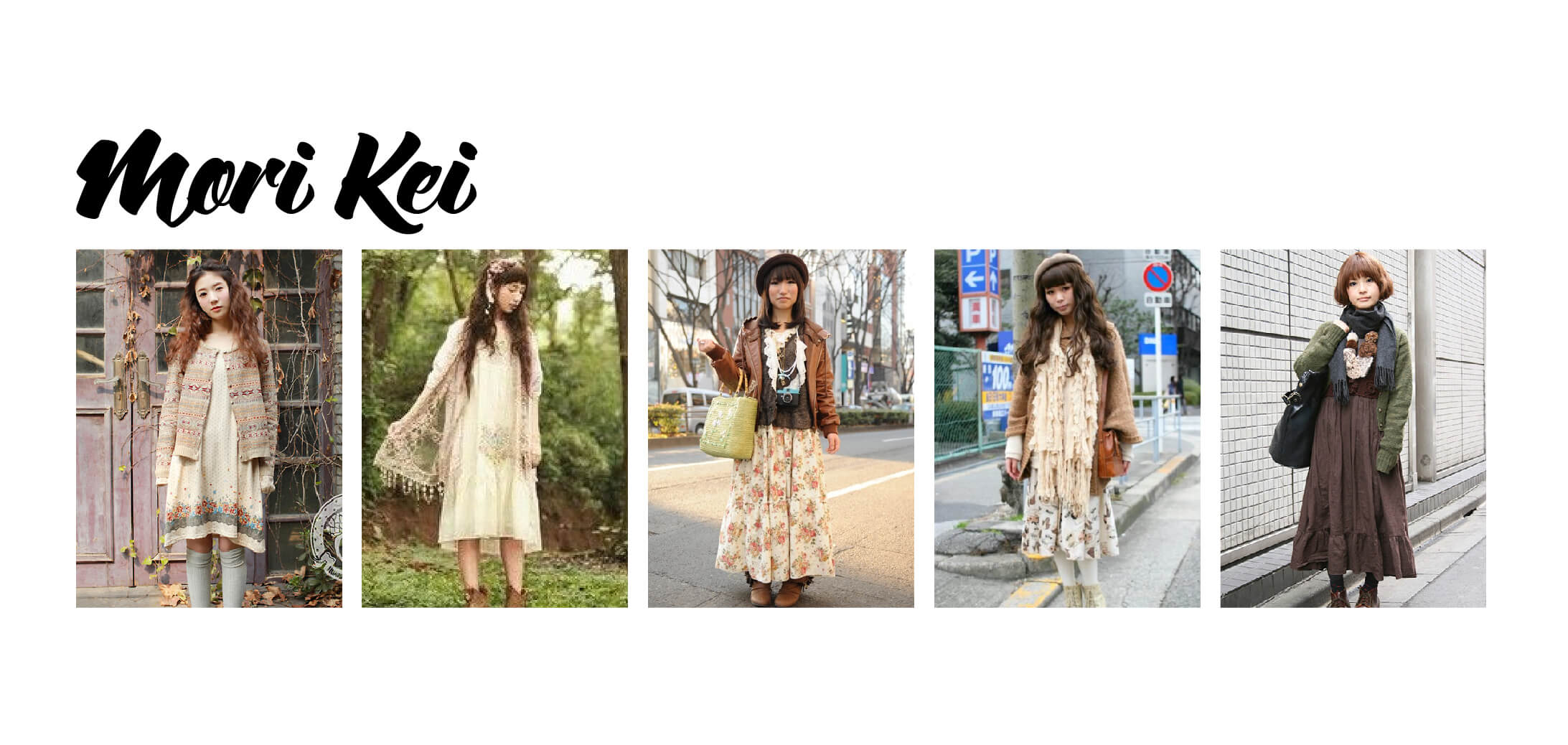 Examples of Mori Kei Fashion
