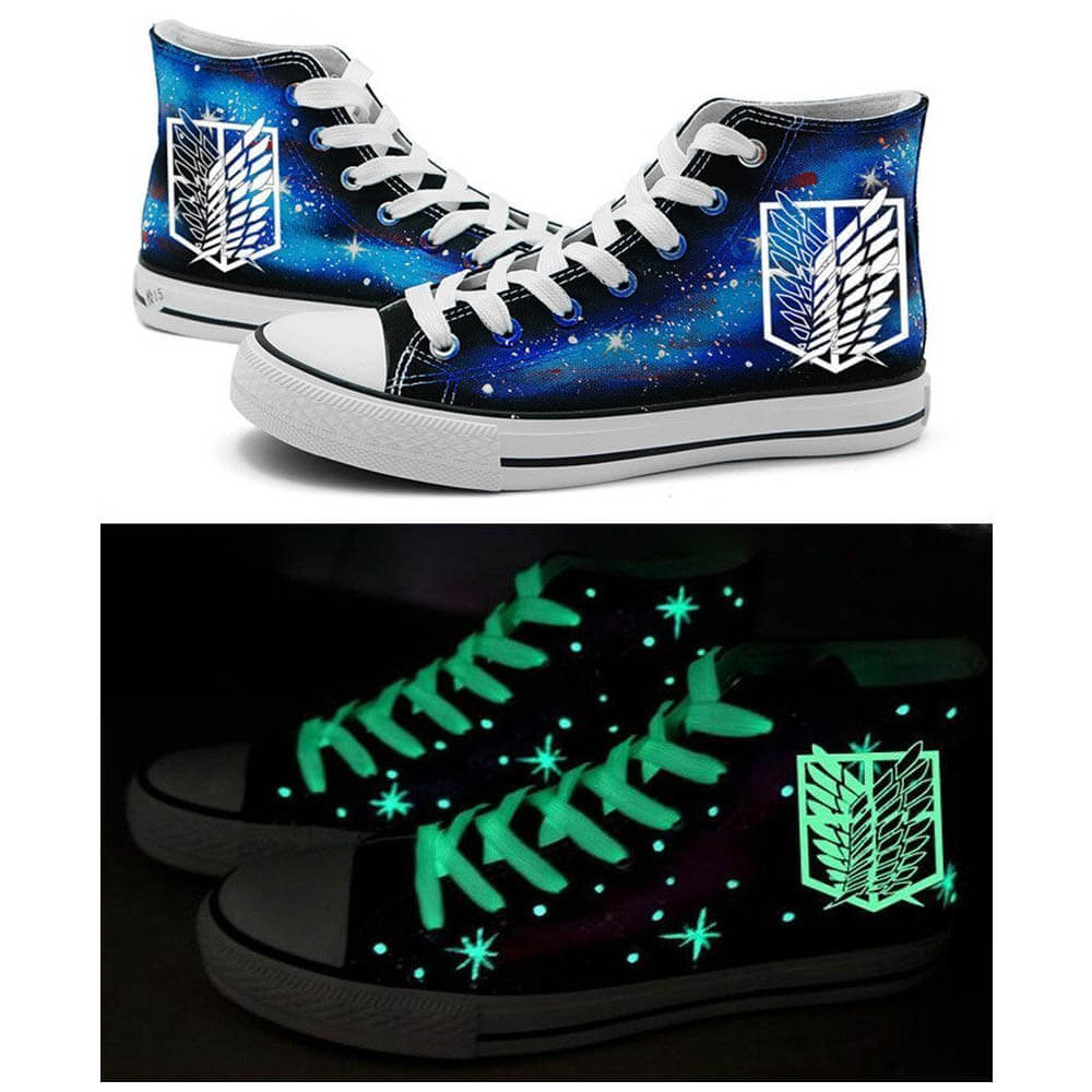 Attack on Titan Glow-In-The-Dark Shoes