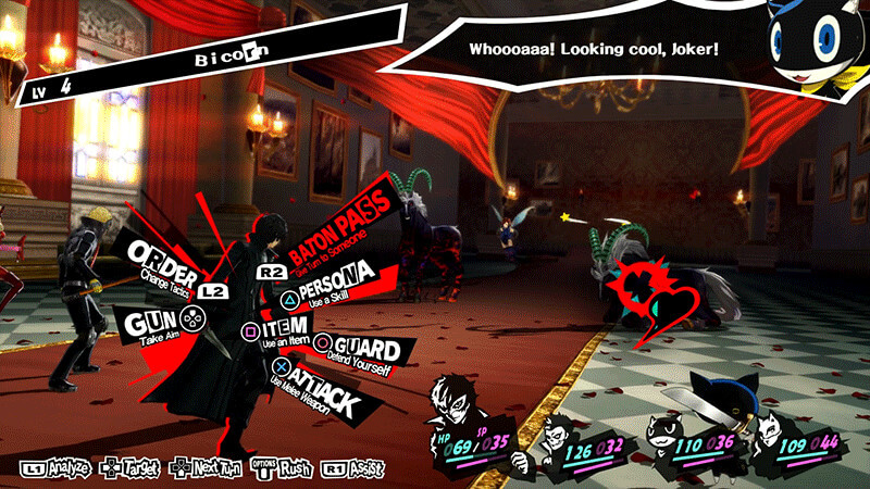 Persona 5 Fight Screen