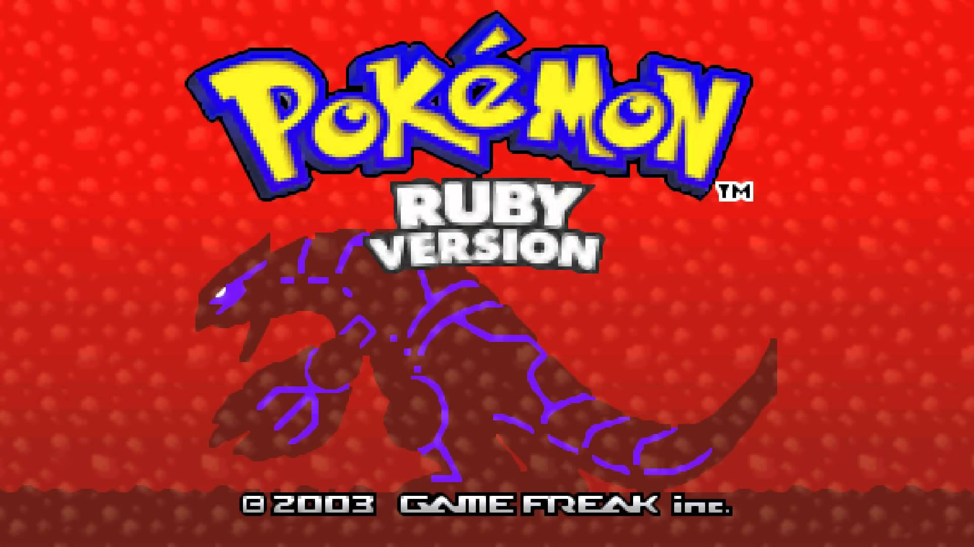 Ruby Title Screen