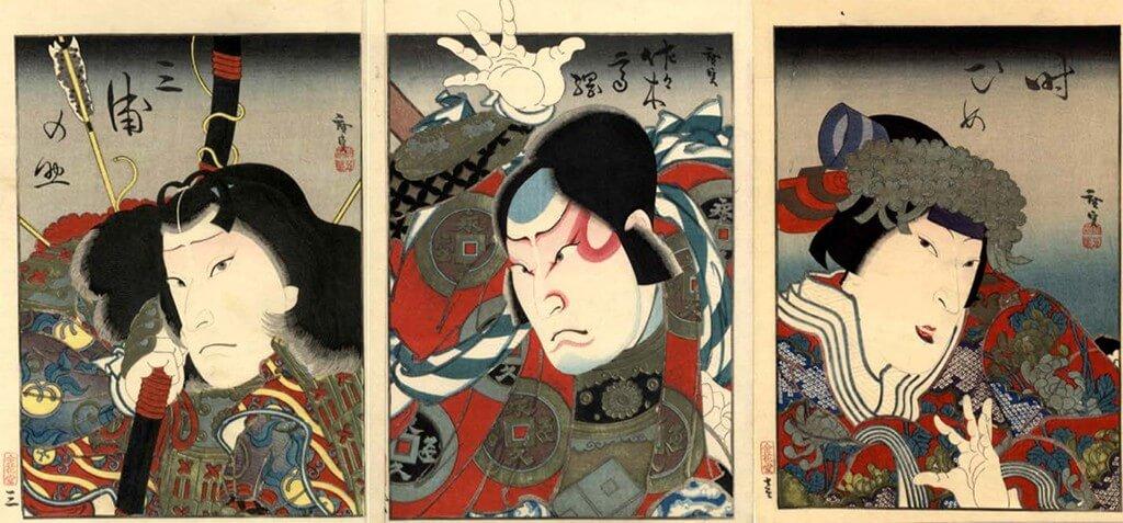 An ukiyo-e painting by Gosoutei Hirosada