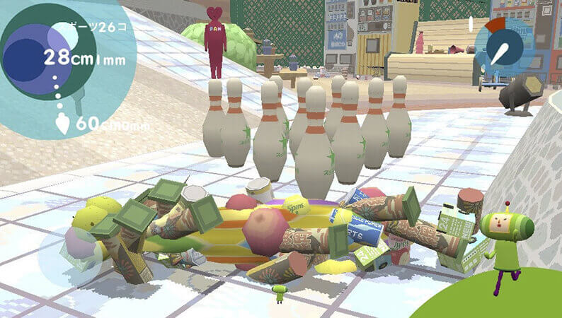 Touch My Katamari's stretching ball