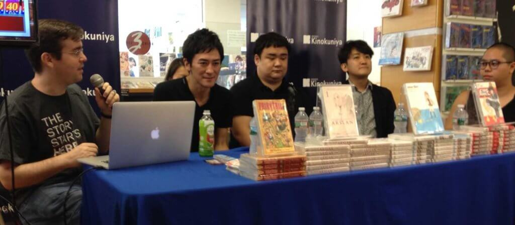 Representatives from Kodansha at the NYC Kinokuniya