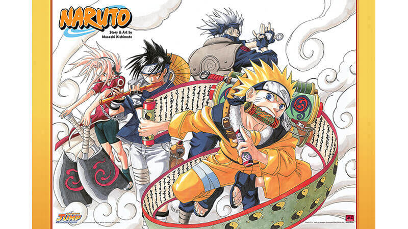 An early illustration of Naruto